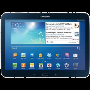 Tablette Samsung noire sous Android